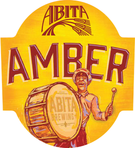 Abita Amber tap handle domed decal.