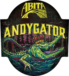 Abita Andygator tap handle domed decal.