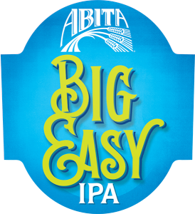 Abita Big Easy IPA tap handle domed decal.