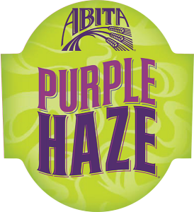 ABita Purple Haze tap handle domed decal.