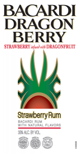Bacardi Dragon Berry Strawberry Rum tap handle magnet.