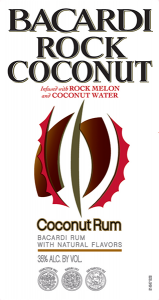 Bacardi Rock Coconut Rum tap handle magnet.