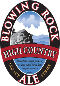 Blowing Rock: High Country Ale tap handle decal.