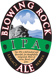 Blowing Rock: IPA Ale tap handle decal.