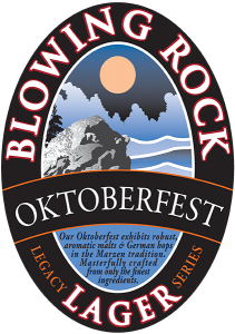 Blowing Rock: Oktoberfest Lager tap handle decal.
