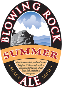 Blowing Rock: Summer Ale tap handle decal.