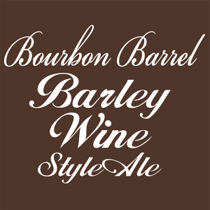 "Bourbon Barrel Barley Wine Style Ale 2"" x 2"" tap handle magnet."