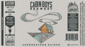 Cabin Boys Brewery Cornerstone Saison beer label.