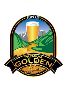 Colorado Belle Tap Decals: Premium Golden Ale.
