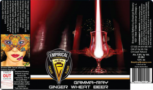 Empirical Brewery Gamma Ray beer label.