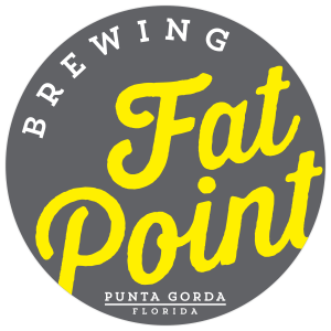 Fat Point Brewing Punta Gorda tap handles label.
