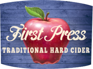 Tap handle magnet: First Press traditional hard cider.