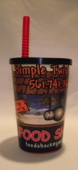 Food Shack 12oz souvenir kids' cup for restaurant.