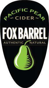 Fox Barrel Pacific Pear Cider tap handle decal.
