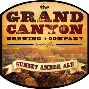 Grand Canyon Brewing Co. Sunset Amber Ale tap handle decal.