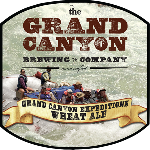 Grand Canyon Brewing Co. Sunset Wheat Ale tap handle decal.