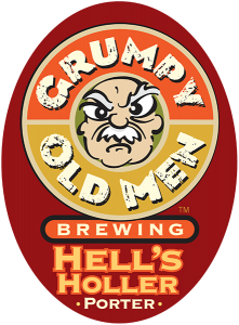 Grumpy Old Men Brewing: Hell's Holler Porter tap handle decal.
