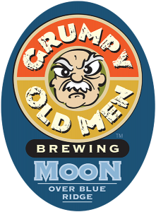 Grumpy Old Men Brewing: Moon tap handle decal.
