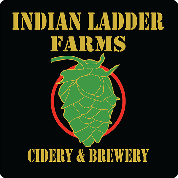 Indian Ladder Farms Cidery & Brewery promotional handout label.