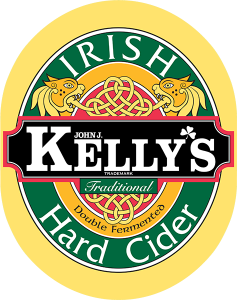 John J. Kelly Irish Hard Cider Traditional tap handle decal.
