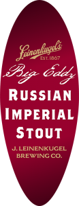 Leinenkugel's Big Eddy Russian Imperial Stout tap handle decal.