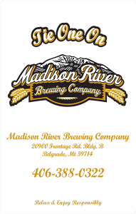 Madison River Brewing Co. clear promotional decal.