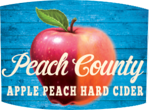 Tap handle magnet: Peach County apple peach hard cider.