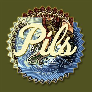Pils Madison River Brewing Co. promotional beer label.