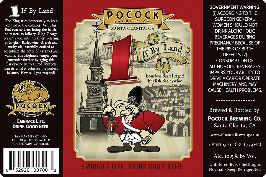 Pocock Brewing Co. 22oz beer label.