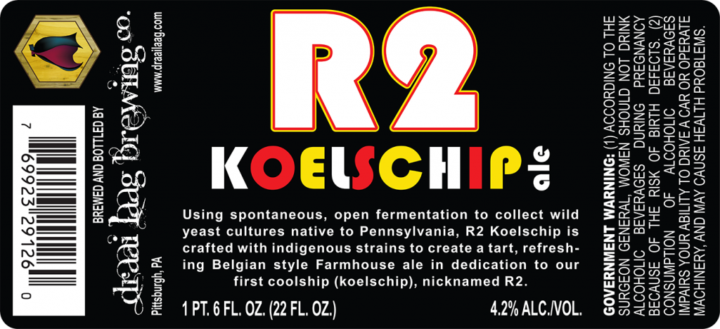 Pittsburgh PA R2 Koelschip Ale beer label.