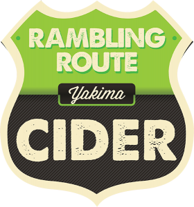Rambling Route Yakima Cider tap handle decal.