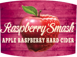 Tap handle magnet: Raspberry Smash Hard Cider.