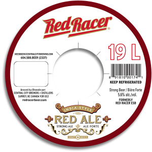 Red Racer Red Ale keg collar.