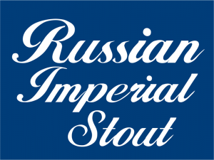 "Russian Imperial Stout 1.125"" x 1.5"" tap handle magnet."