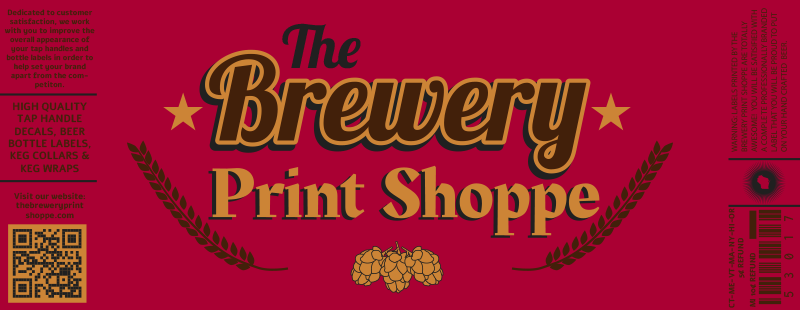 The Brewery Print Shoppe footer label logo.