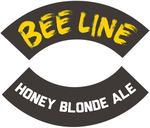 Track 7 Brewing: Bee Line Honey Blonde Ale tap handle decal.