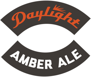 Track 7 Brewing Sacramento California: Daylight Amber Ale tap handle decal.