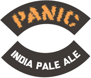 Track 7 Brewing Sacramento California: Panic IPA tap handle decal.