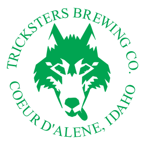 Tricksters Brewing Co. Coerd'alene Idaha clear promotional beer decal.