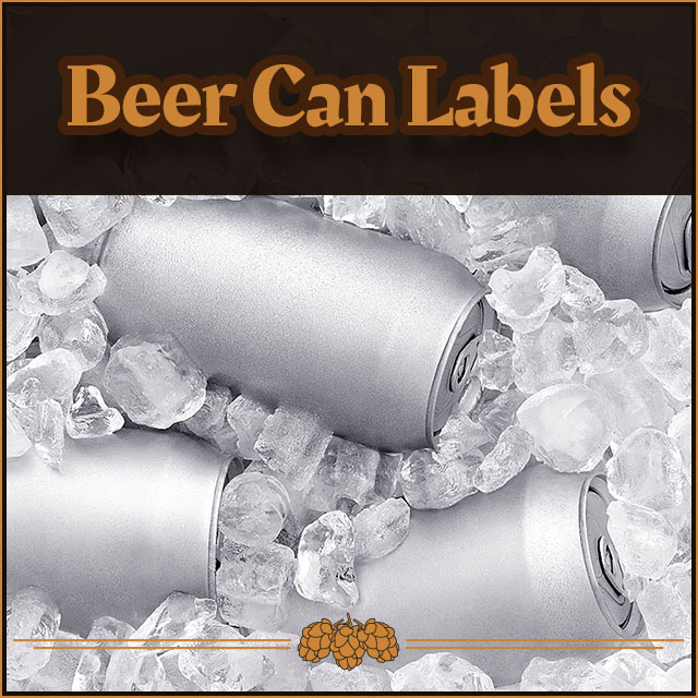 16oz Beer Can Labels.