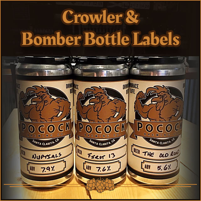 Crowler & Bomber Bottle Labels.