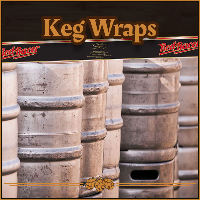 Beer keg wraps