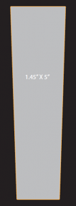 5.0 x 1.448 special shape tap handle decal