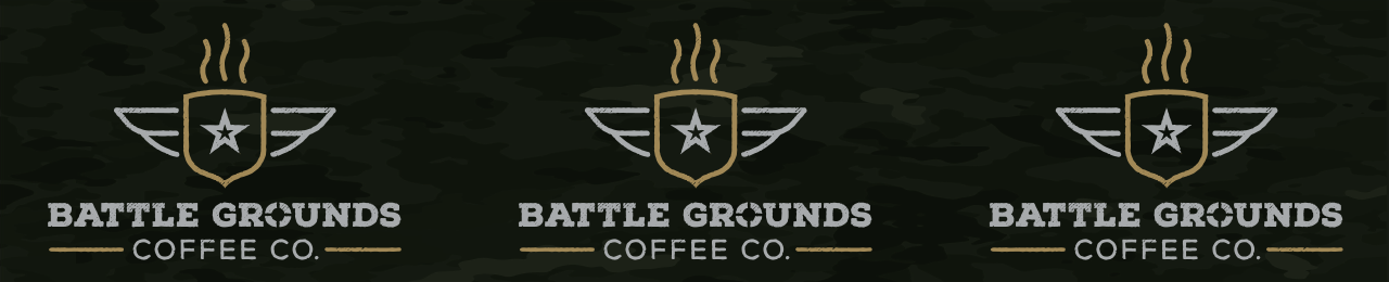 Battle Grounds Coffee Co. keg wrap label.