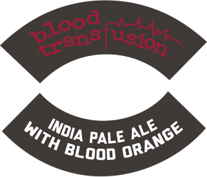 Track 7 Brewing Sacramento CA: Blood Transfusion tap handle decal.